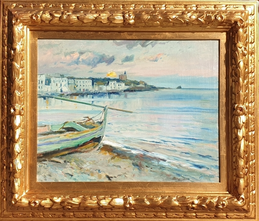 Segundo MATILLA MARINA - Painting - Cadaqués - atardecer
