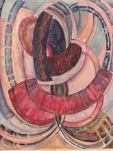 Frantisek KUPKA - Drawing-Watercolor - Étude pour Fleurs en broderie
