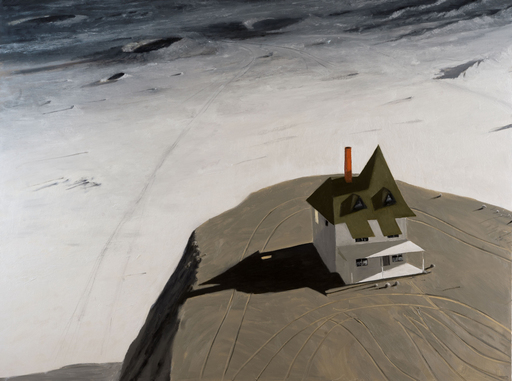 Julio LARRAZ - Peinture - Port of Call in the Sea of Rains