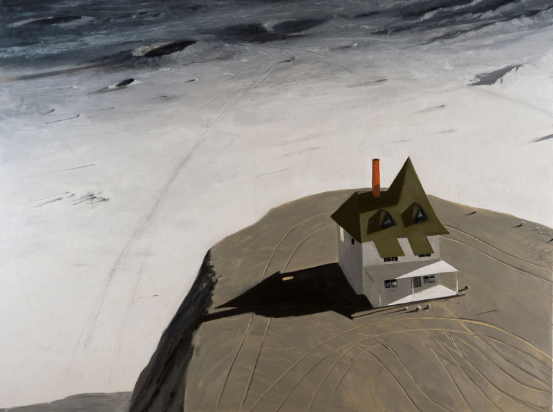 Julio LARRAZ - Painting - Port of Call in the Sea of Rains