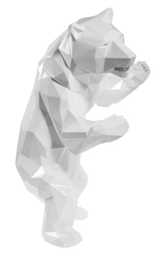 Richard ORLINSKI - Sculpture-Volume - Standing Bear White (Ours Blanc)