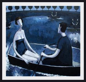 Ramaz ROSTOMASHVILI - Gemälde - A walk by the boat