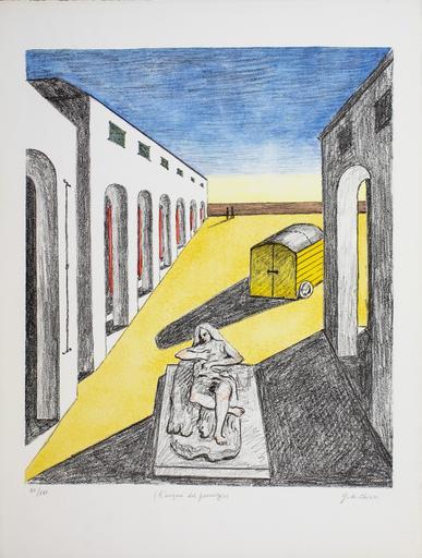 Giorgio DE CHIRICO - Grabado - L'enigma del pomeriggio, 1970