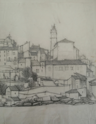 Odette DERAY - Drawing-Watercolor - Gordes - (Vaucluse)