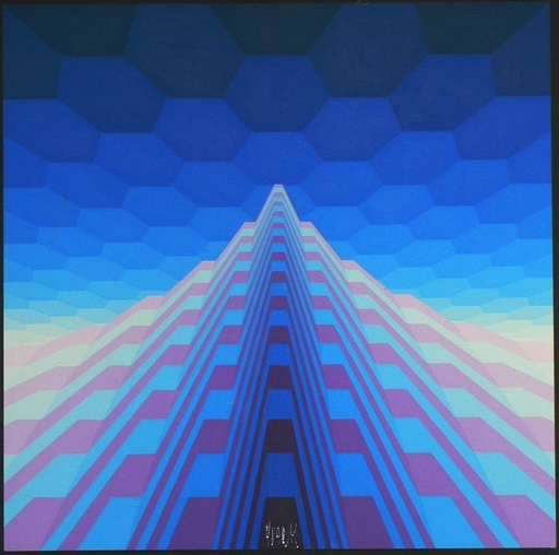 YVARAL - Painting - Structure pyramidale n°1918