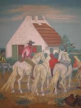 Yves BRAYER - Print-Multiple - Cavaliers en Camargue,1961.