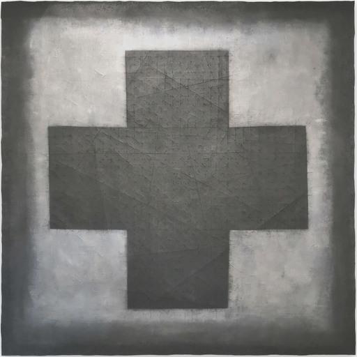Pierre MUCKENSTURM - Gemälde - Croix 20.10 P (Abstract painting)