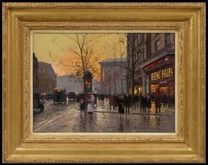 Édouard CORTES - Peinture - Place de la Madeleine