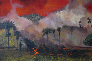 Bruno GADENNE - Peinture - Incendie 1