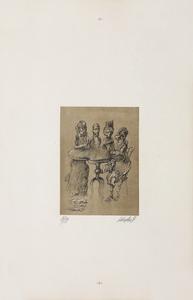 Jan LEBENSTEIN - Grabado - La réunion
