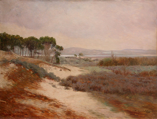 Guido GUIDI - Painting - Paysage d'Italie
