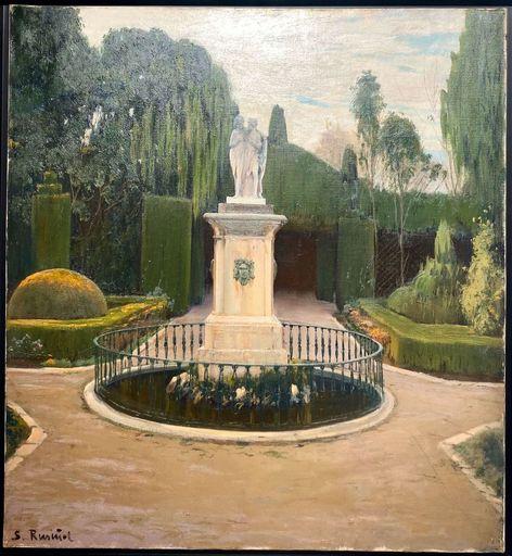 Santiago RUSIÑOL Y PRATS - Painting - Jardín Montforte Valencia - Castor y Polux