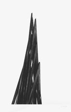 Bernar VENET - Grabado - 9 acute uneven angles