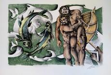 Hans ERNI - Print-Multiple - Dames des décans - Poissons