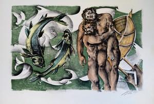 Hans ERNI - Stampa Multiplo - Dames des décans - Poissons