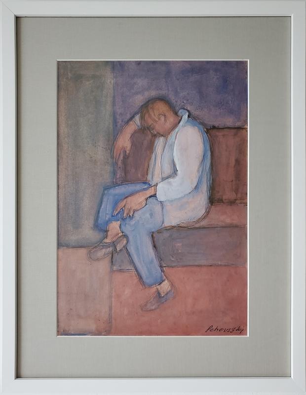 Ivan PETROVSKY - Disegno Acquarello - Dormido en el Parque