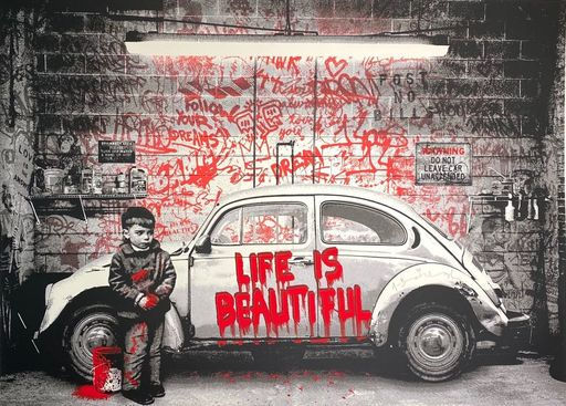 MR BRAINWASH - Druckgrafik-Multiple - beetle, red