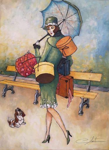 Véronique CLANET - Painting - Retour de vacances avec Max