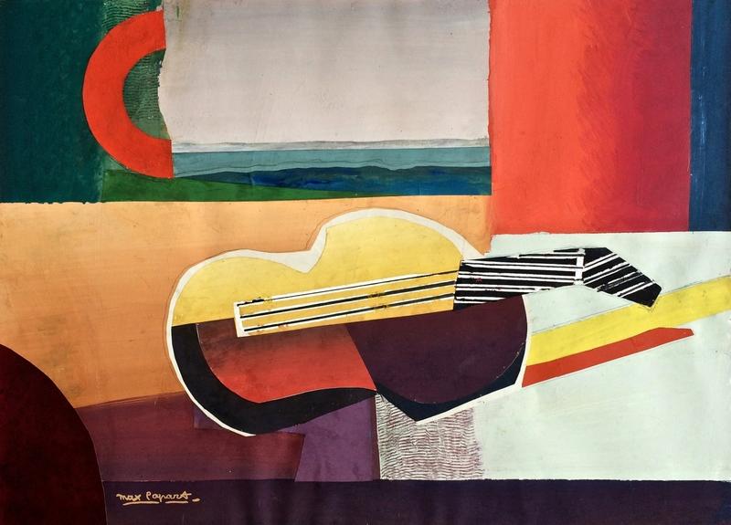 Max PAPART - Painting - Yellow guitar