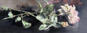 Christoff DEBUSSCHERE - Pintura - Les roses