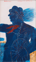 Alexandre FASSIANOS (1935) - Man with Bicycle
