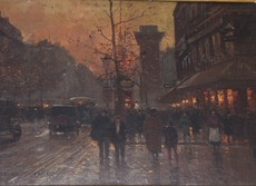 Édouard CORTES - Painting - Saint Denis