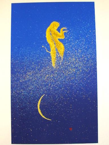 None FUJISAWA - Estampe-Multiple - Le rêve caresse le coeur dormant,2002.