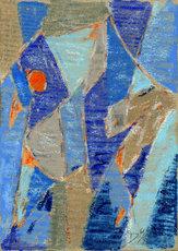 Arnold Eduard NEUWEILER - Dibujo Acuarela - Abstrakte Komposition