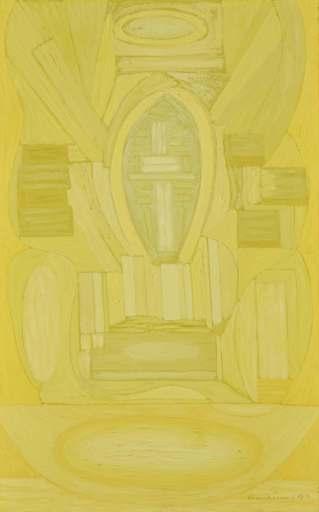Serge CHARCHOUNE - Painting - Composition Inspirée par le Credo de la Messe en C Mineur de