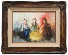 Jean JANSEM - Pintura - Femmes au panier