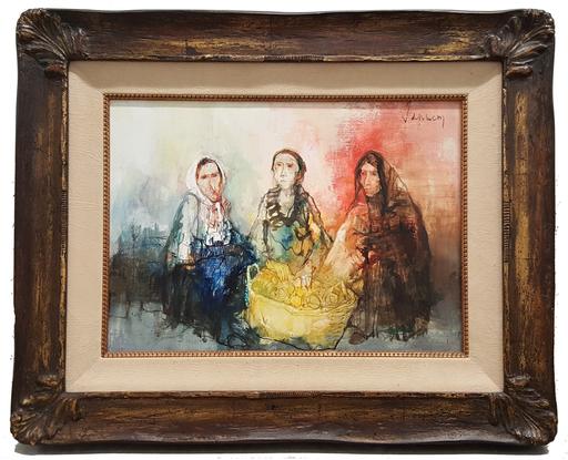 Jean JANSEM - Painting - Femmes au panier