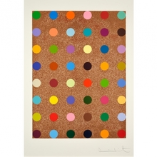 Damien HIRST - Grabado - Carvacrol (with bronze glitter)