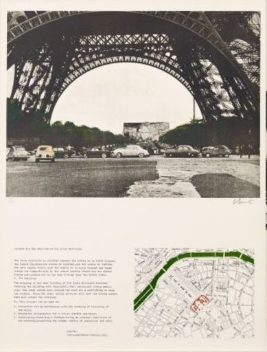 CHRISTO - Print-Multiple - Packed building project for the ecole militaire Paris