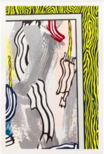 罗伊•利希滕斯坦 - 版画 - Paintings on Blue and Yellow Wall