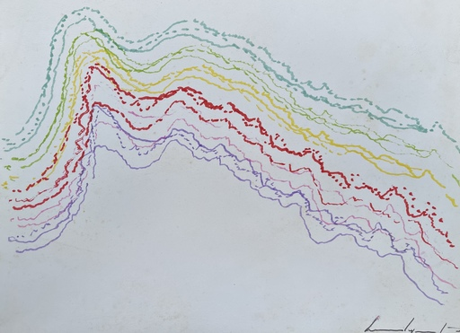 Bernard QUENTIN - Zeichnung Aquarell - Composition électronique