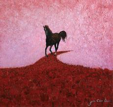 Julio César OSORIO - Pintura - Poppy Fields    (Cat N° 6111)