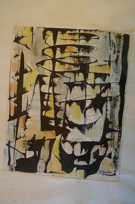 Joseph LEVIN - Dessin-Aquarelle - composition abstraite 5