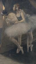 Pierre CARRIER-BELLEUSE - Pintura - danseuses regardant derrière le rideau