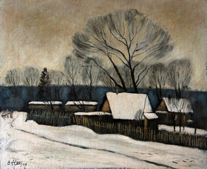 Valeriy NESTEROV - Pintura - Village. Moscow region