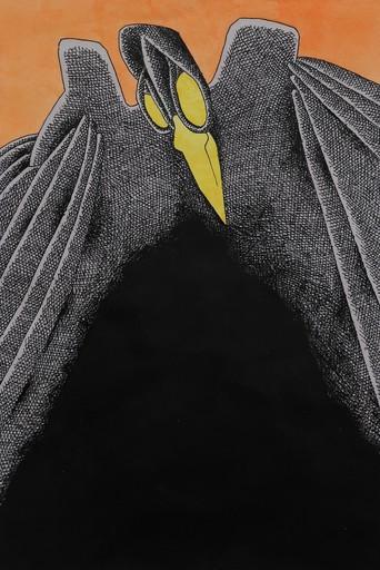 Gahan WILSON - Zeichnung Aquarell - Poe's Raven