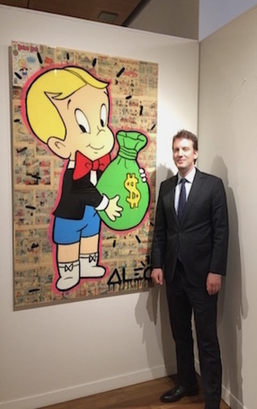 Alec MONOPOLY - Painting - Richie Rich in comics