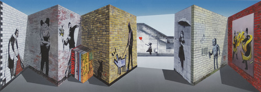 Patrick HUGHES - Print-Multiple - Banksy