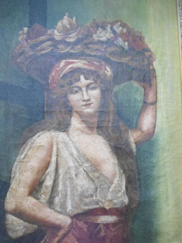 René SEYSSAUD - Peinture - La lavandière.