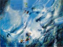 Jean-Baptiste VALADIÉ - Pintura - La siréne des fonds bleus