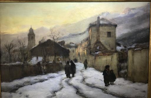 Vittore Antonio CARGNEL - Pittura - Prima neve a Cartigliano