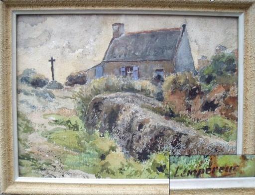 Etienne LEMPEREUR - 水彩作品 - Maison bretonne (Bréhat?)