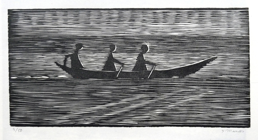Gerhard MARCKS - Estampe-Multiple - Ruderboot