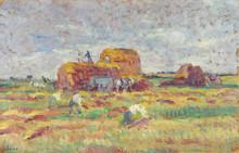 Maximilien LUCE (1858-1941) - Rolleboise, scène de fenaison