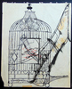 Andy WARHOL - Zeichnung Aquarell - Bird in a Cage and Shoe
