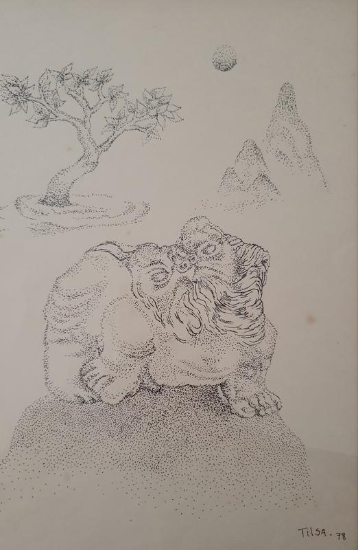 Tilsa TSUCHIYA - Drawing-Watercolor - Surrealistic Figure